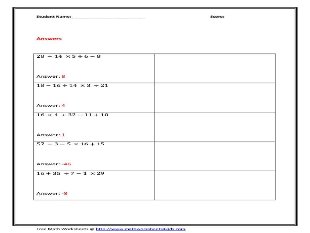 Chapter 5 Section 1 Understanding Supply Worksheet Answers and Colorful Math Worksheets order Operations with Exponents