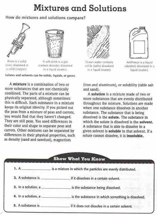 Chemistry Worksheet Types Of Mixtures Answers or 44 Best Mixtures and solutions Images On Pinterest