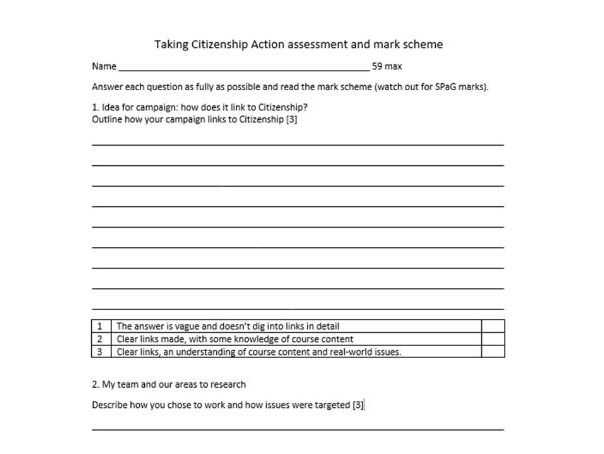 """Citizenship In the World Worksheet Answers Also assessment Activity for Edexcel Gcse Citizenship """"taking Citizenship"""