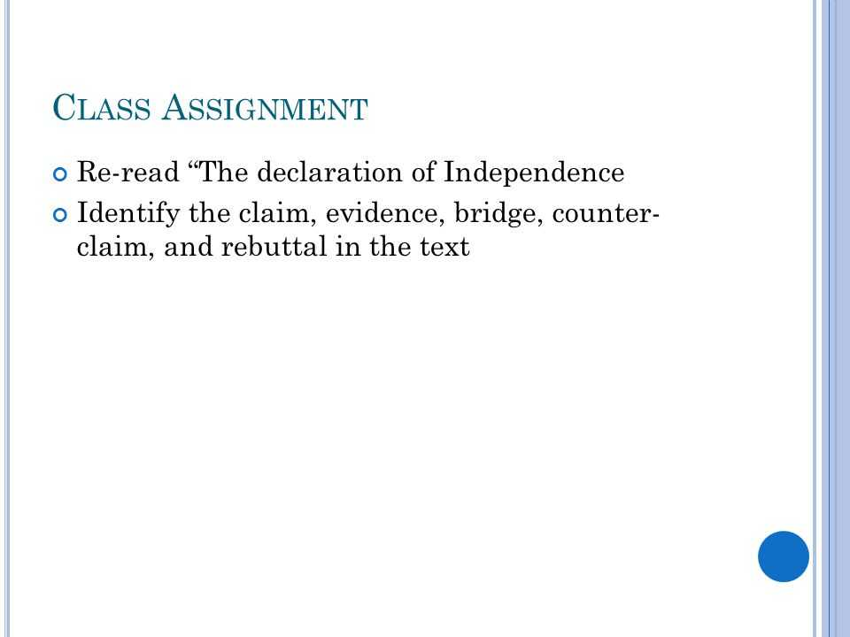 """Claim Counterclaim Rebuttal Worksheet or the Declaration Of Independence"""" by Thomas Jefferson Ppt Video"""