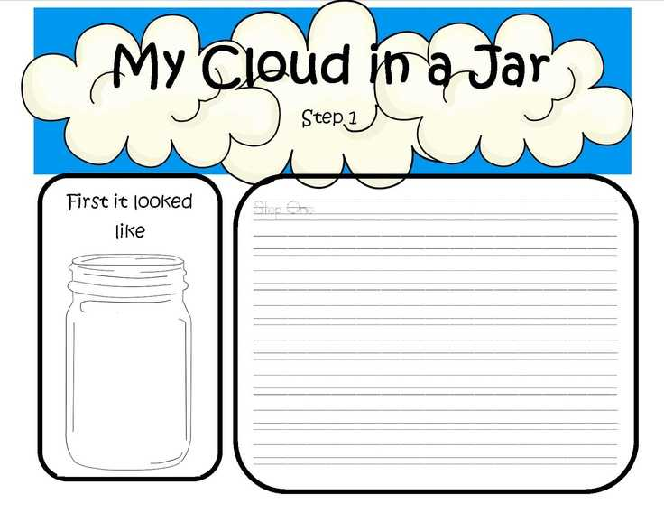 Cloud In A Bottle Experiment Worksheet with 117 Best Exploring Clouds Images On Pinterest