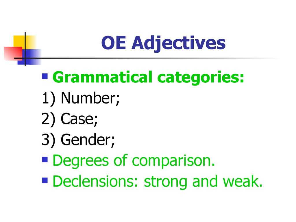 Comparative and Superlative Adjectives Worksheet and O Morphology O Syntax Lecture 2