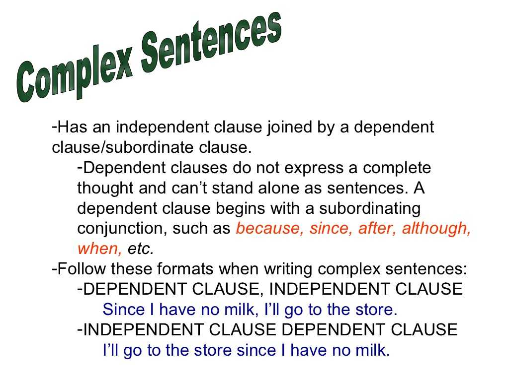 Complex Sentences Worksheet and Use Definite In A Sentence Definite Sentence Examples Fau