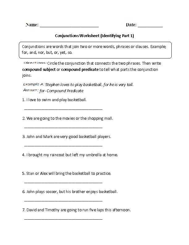 Correlative Conjunctions Worksheets with Answers Along with 8 Best Conjunctions Images On Pinterest