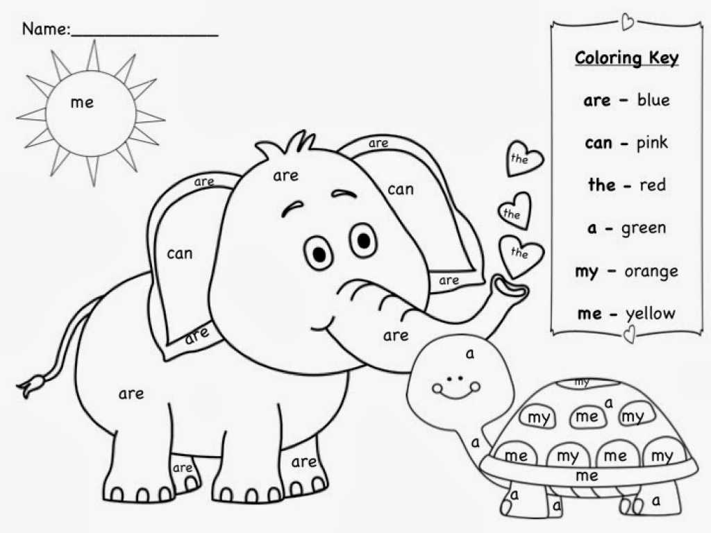 Creative Writing Worksheets for Grade 1 Also Animal Sight Word Coloring Pages Womanmate