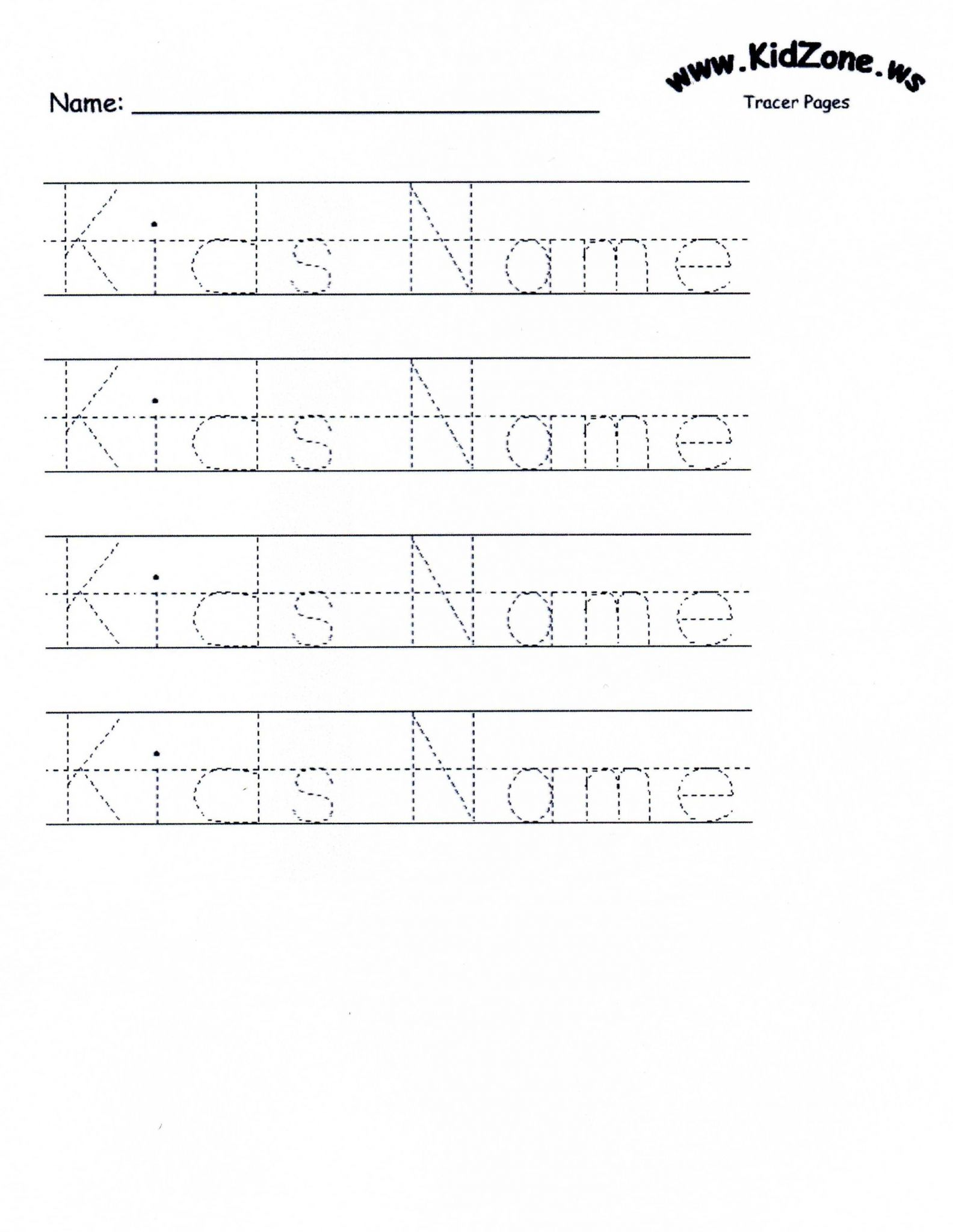 Custom Name Tracing Worksheets as Well as Customizable Printable Letter Pages
