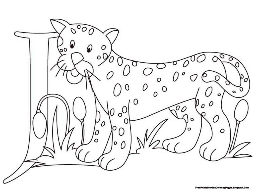 Cut and Paste Alphabet Worksheets or Jaguar Coloring Page Printable Simple Jaguar Coloring Pages