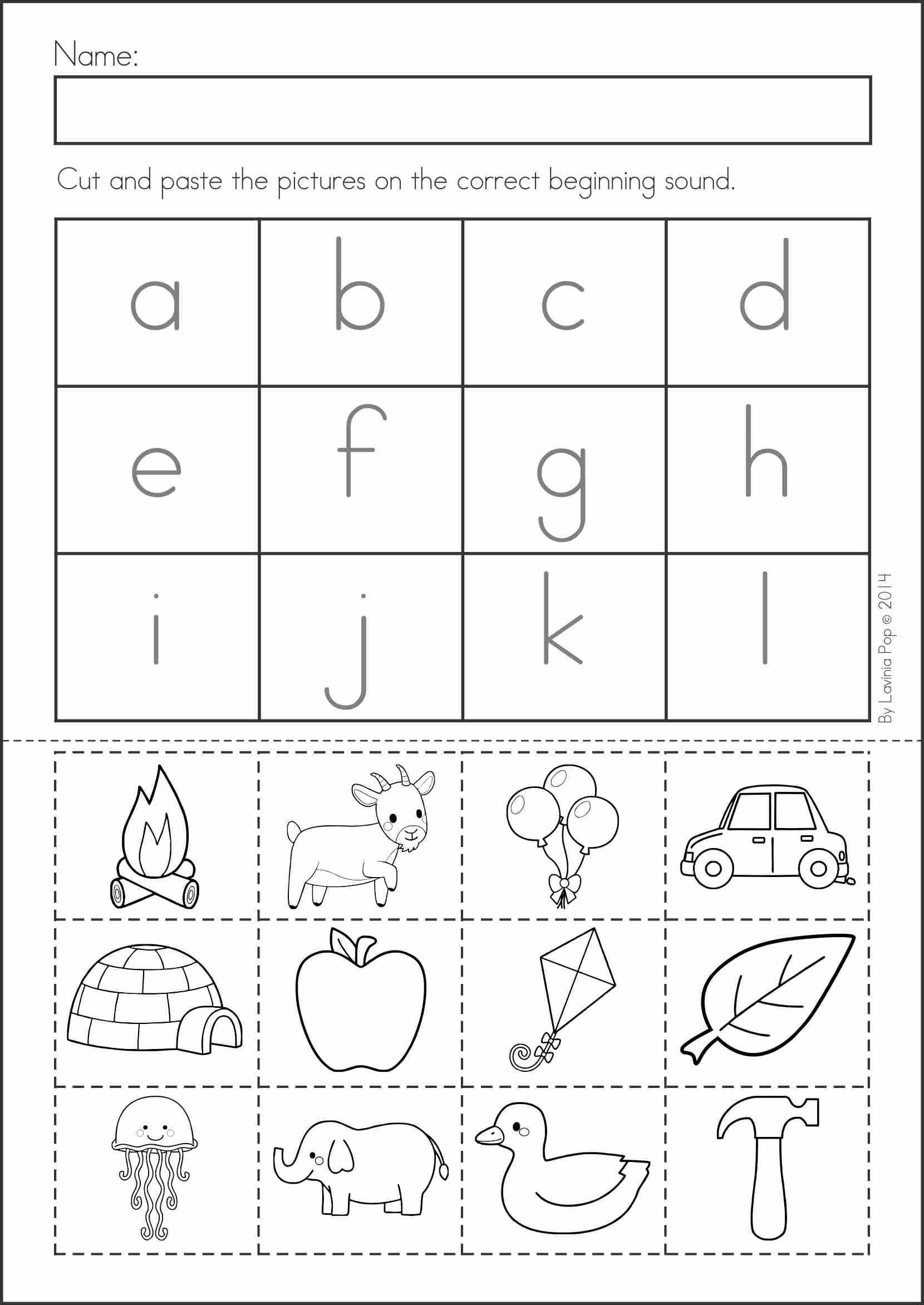 Cut and Paste Worksheets for Kindergarten together with Letter J Cut and Paste Worksheets the Best Worksheets Image