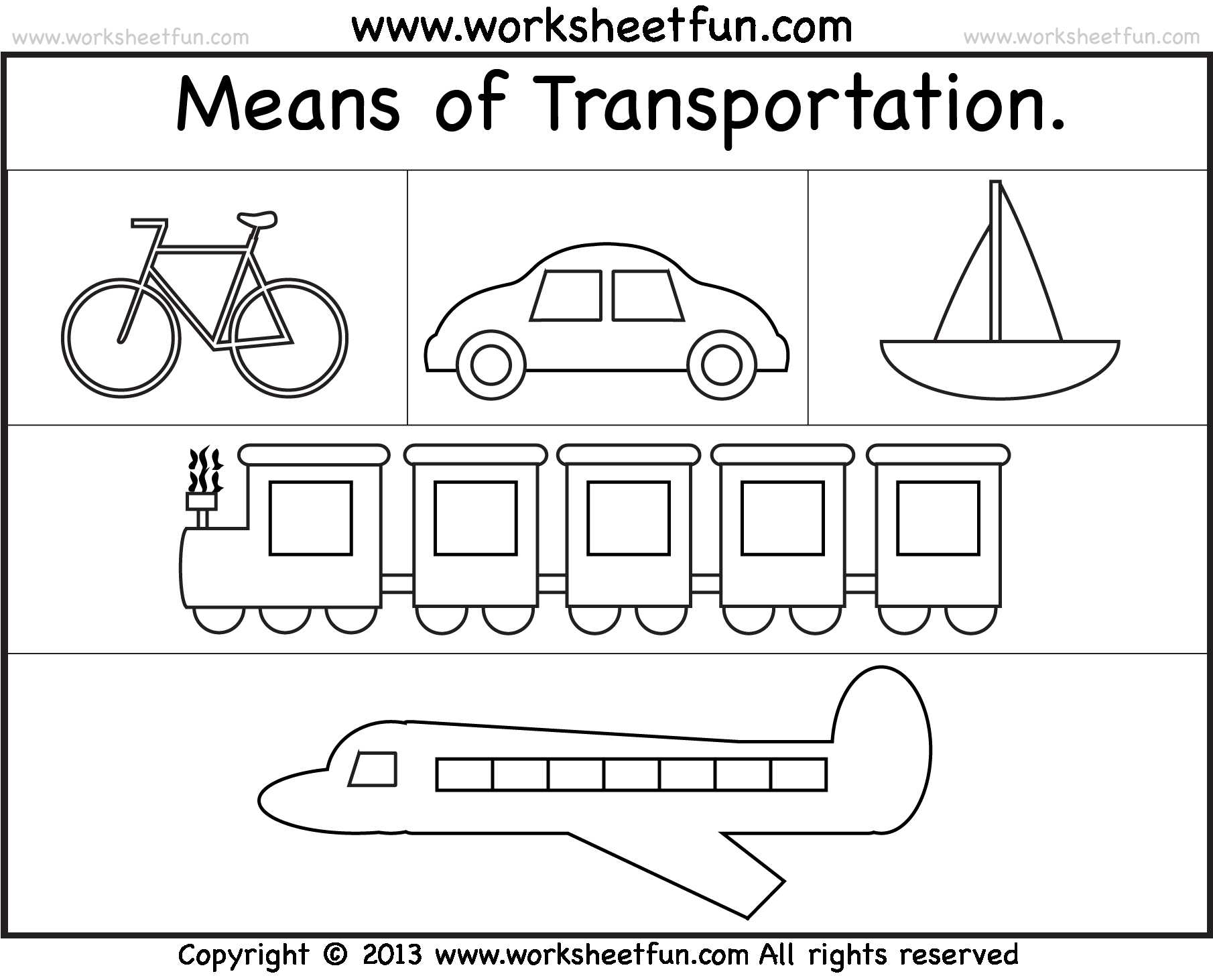 Cut and Paste Worksheets for Kindergarten together with Transportation Worksheets for Kindergarten the Best Worksheets Image