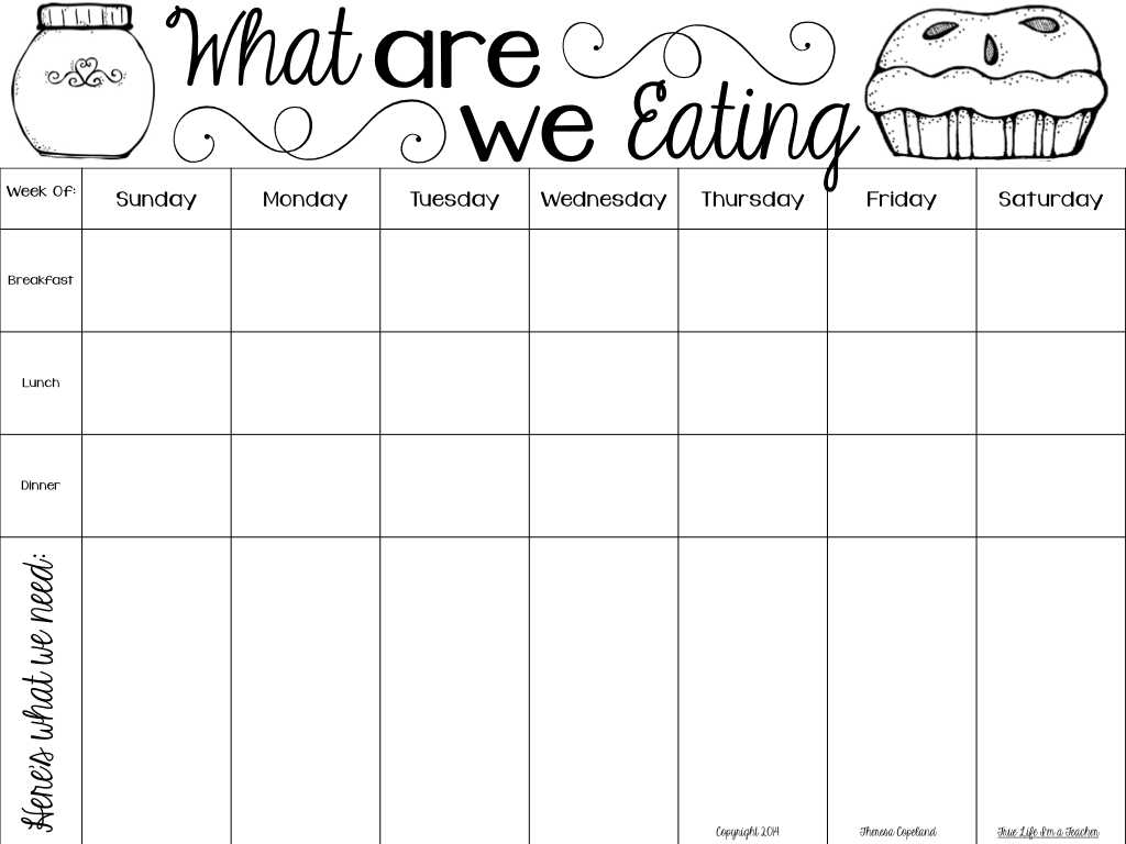 Discharge Planning Mental Health Worksheet with Monthly Meal Chart Template
