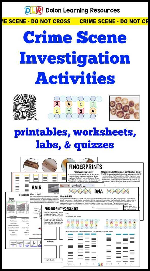 Dna Profiling Worksheet Along with 666 Best Teaching forensics Images On Pinterest