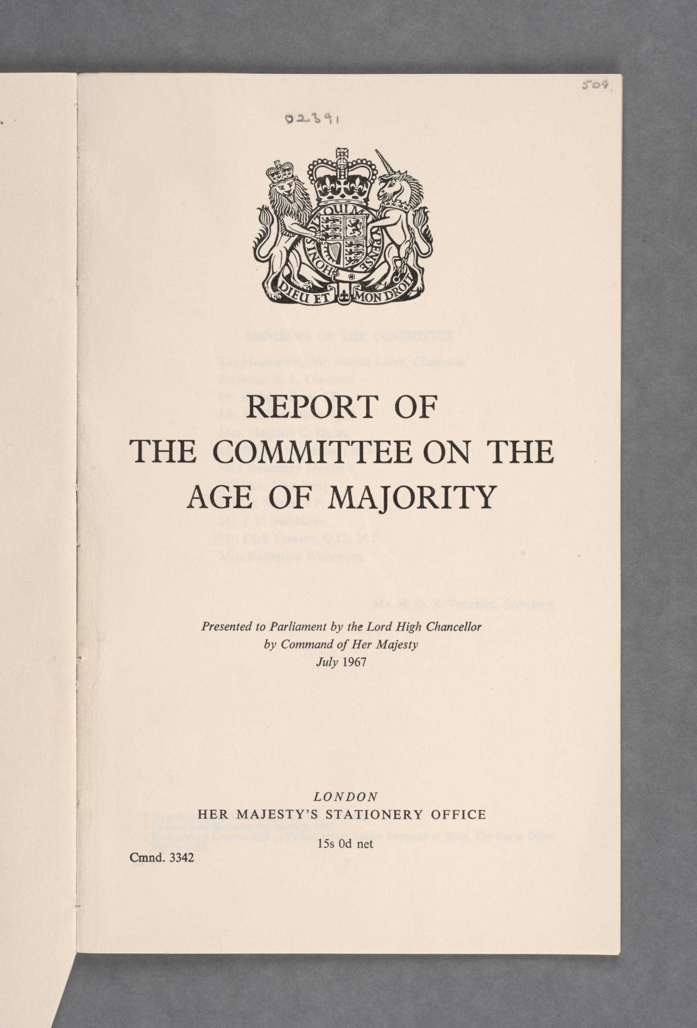 Drug Education Worksheets with Report Of the Mittee On the Age Of Majority Uk Parliament