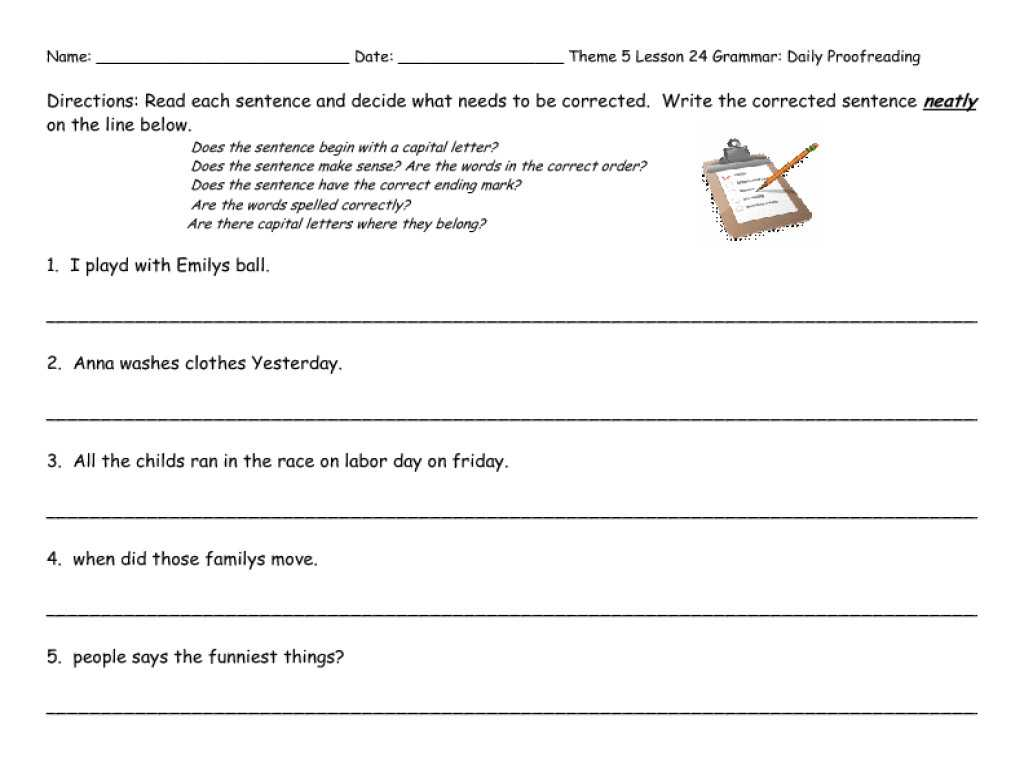 Editing Practice Worksheets And Missing Short Vowel