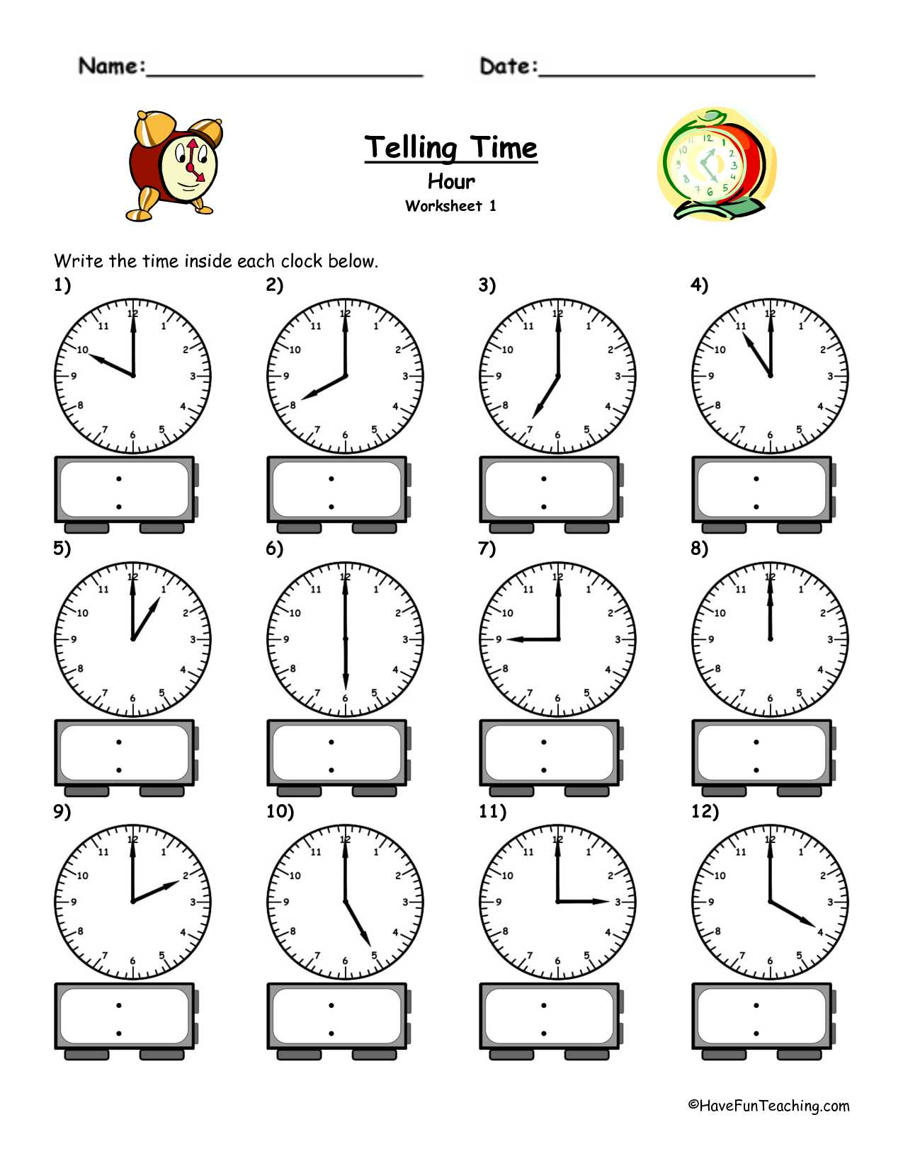 Elementary Teacher Worksheets Along with Time Worksheets Telling Time Worksheets