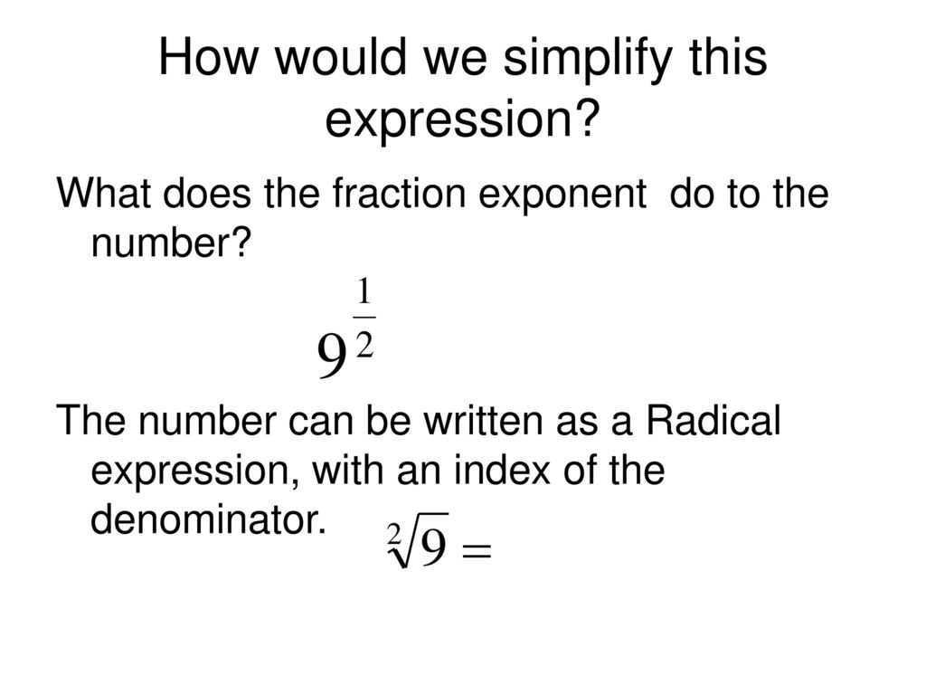 Exponents and Radicals Worksheet with Answers or 57 Rational Exponents Fraction Exponents Ppt