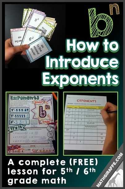 Exponents Worksheets 6th Grade Along with Introducing Exponents A Lesson for 5th and 6th Grade Math Free