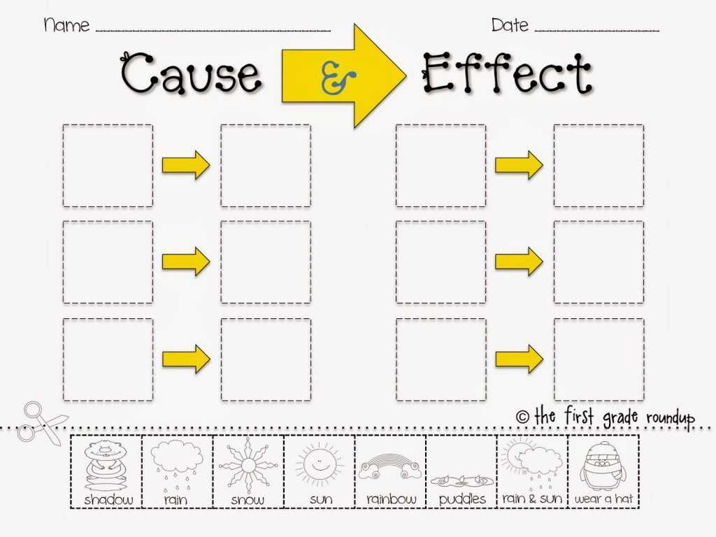 Free Contraction Worksheets and Cause and Effect Worksheets for Kindergarten Image Collectio