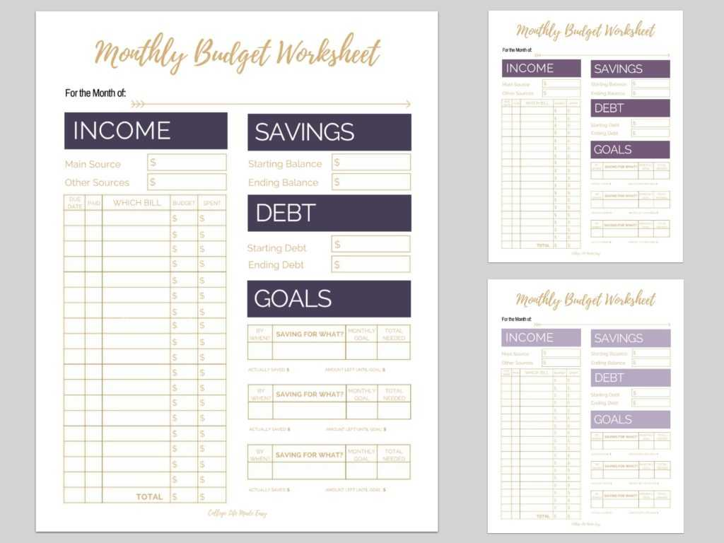 Free Download Monthly Budget Worksheet Along with 6 Free Monthly Bud Printables that are Proven to Help You