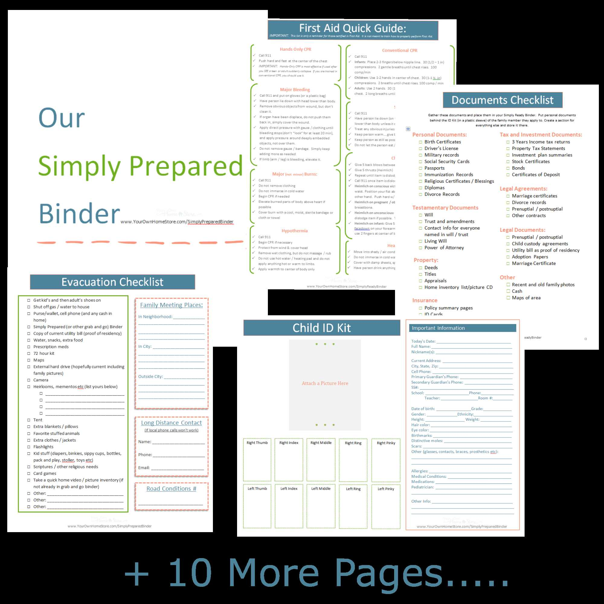 Free Printable Budget Binder Worksheets Along with Simply Prepared Grab and Go Binder