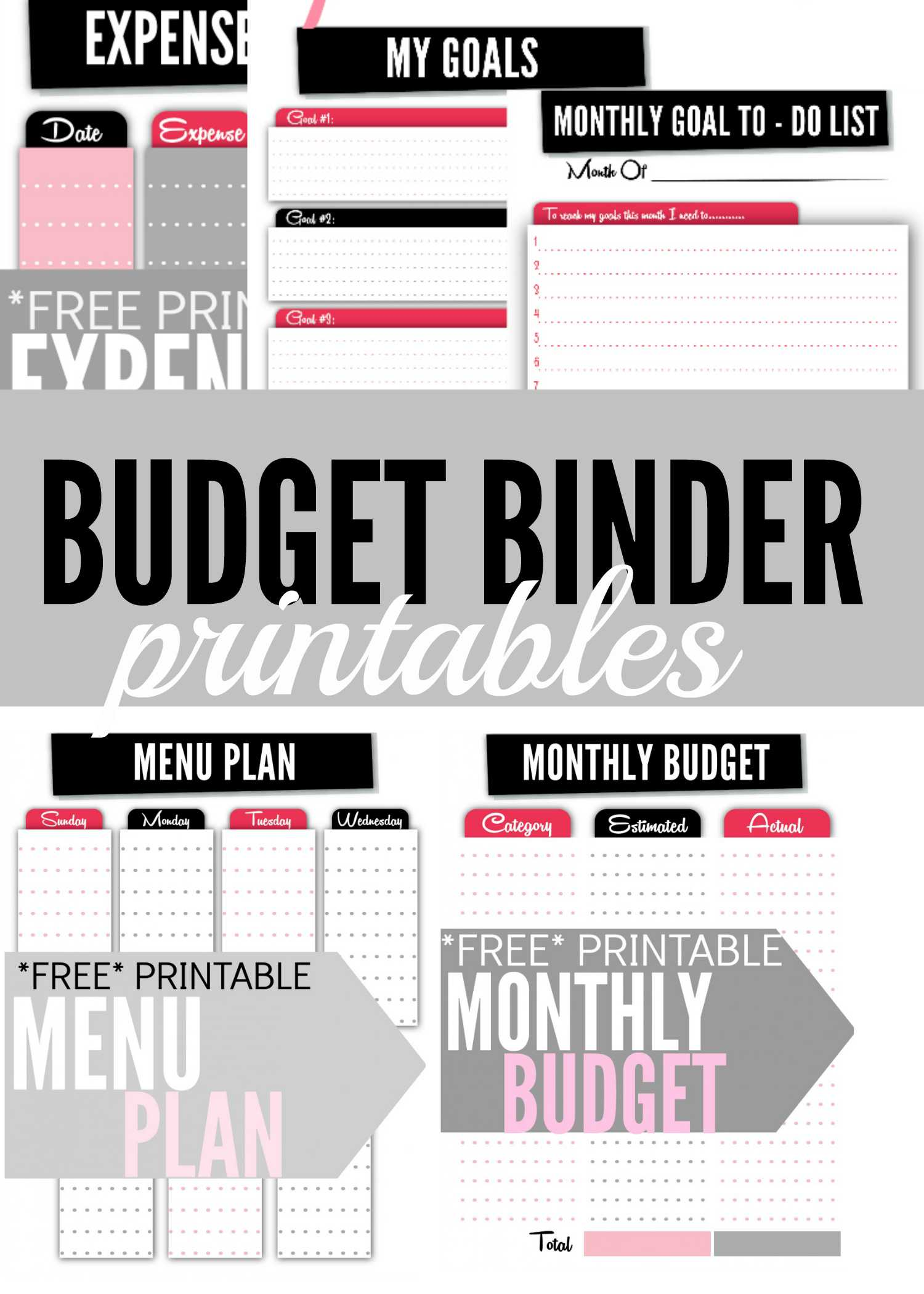 Free Printable Budget Binder Worksheets or Bud Worksheet Printable Binder Worksheets Free Concept 2018