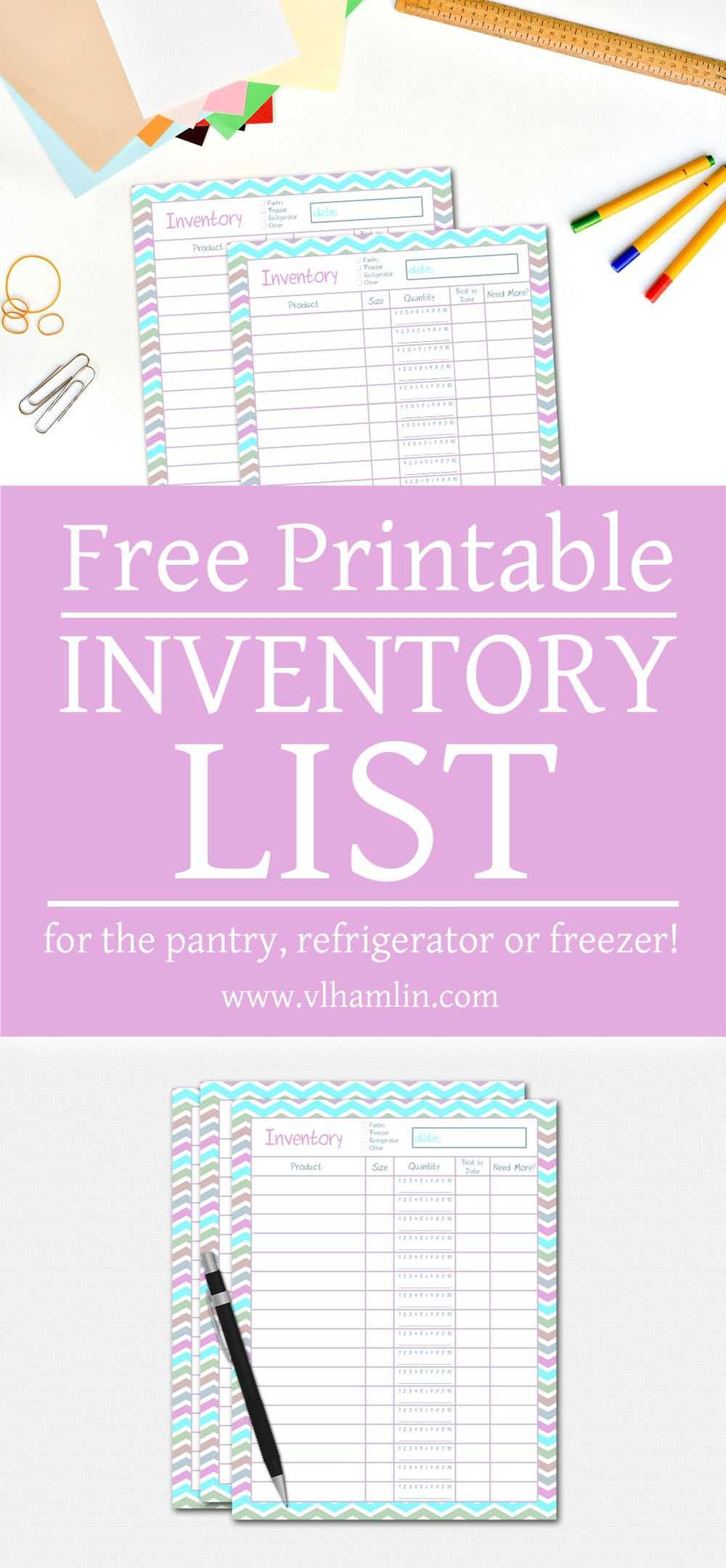 Free Printable Budget Binder Worksheets with Free Printable Inventory List for the Pantry Refrigerator or