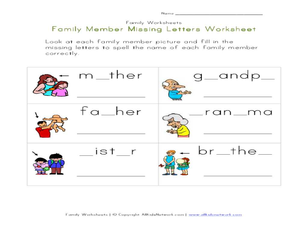 Free Printable toddler Worksheets Along with Chic Family Worksheets for Kindergarten Also Worksheet My Fa