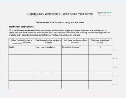 Free Printable Worksheets On Depression as Well as Coping Skills Worksheets Pdf aslitherair
