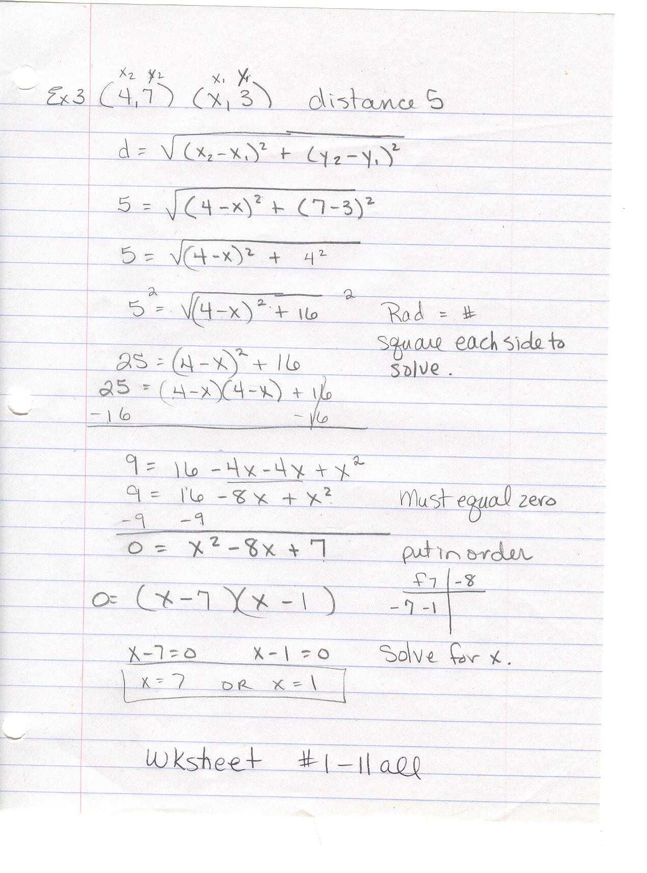 Geometry Distance and Midpoint Worksheet Answers with Distance and Midpoint Worksheet Answers Best Womackmath 3rd