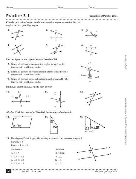 Geometry Parallel Lines Worksheet Answers Also 40 Beautiful Pics 3 2 Practice Angles and Parallel Lines
