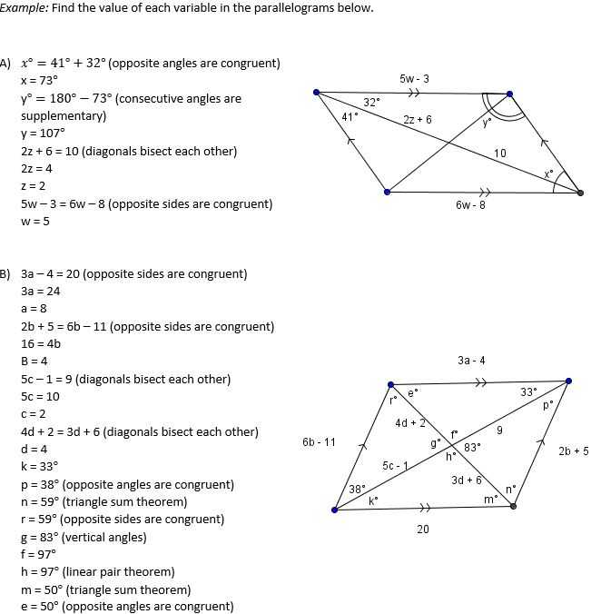 Geometry Parallelogram Worksheet Along with Parallelogram Worksheet Geometry Answers the Best Worksheets Image