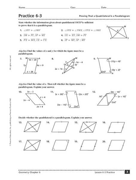 Geometry Parallelogram Worksheet together with Proving Quadrilaterals Worksheet Answers Kidz Activities
