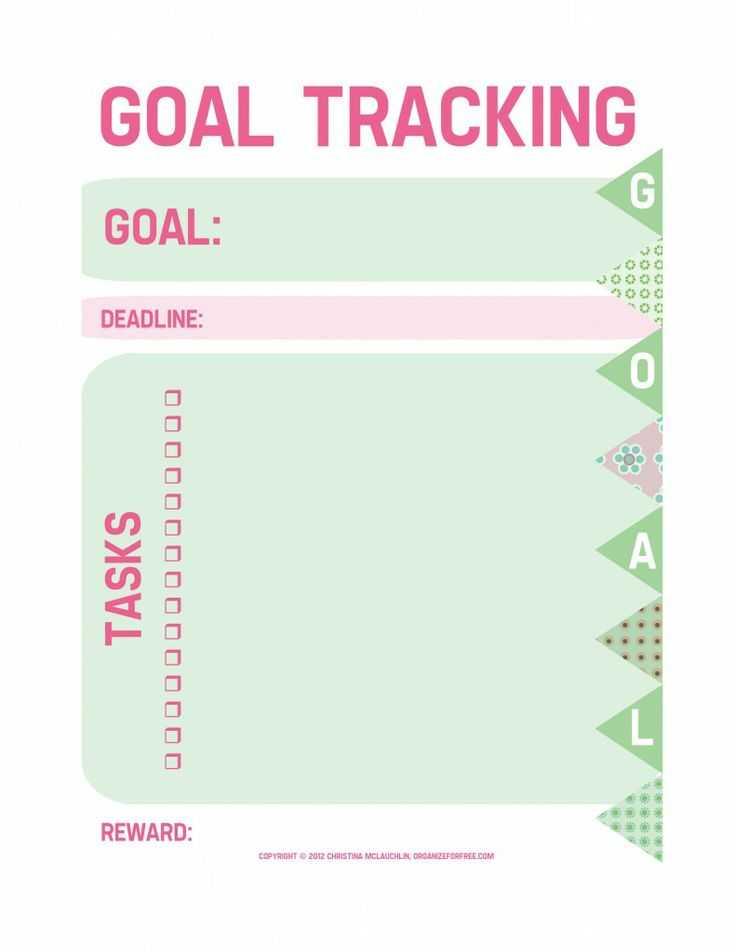 Goal Tracking Worksheet Also 27 Best Goals Images On Pinterest