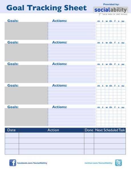 Goal Tracking Worksheet as Well as Goal Tracking Sheet aslitherair