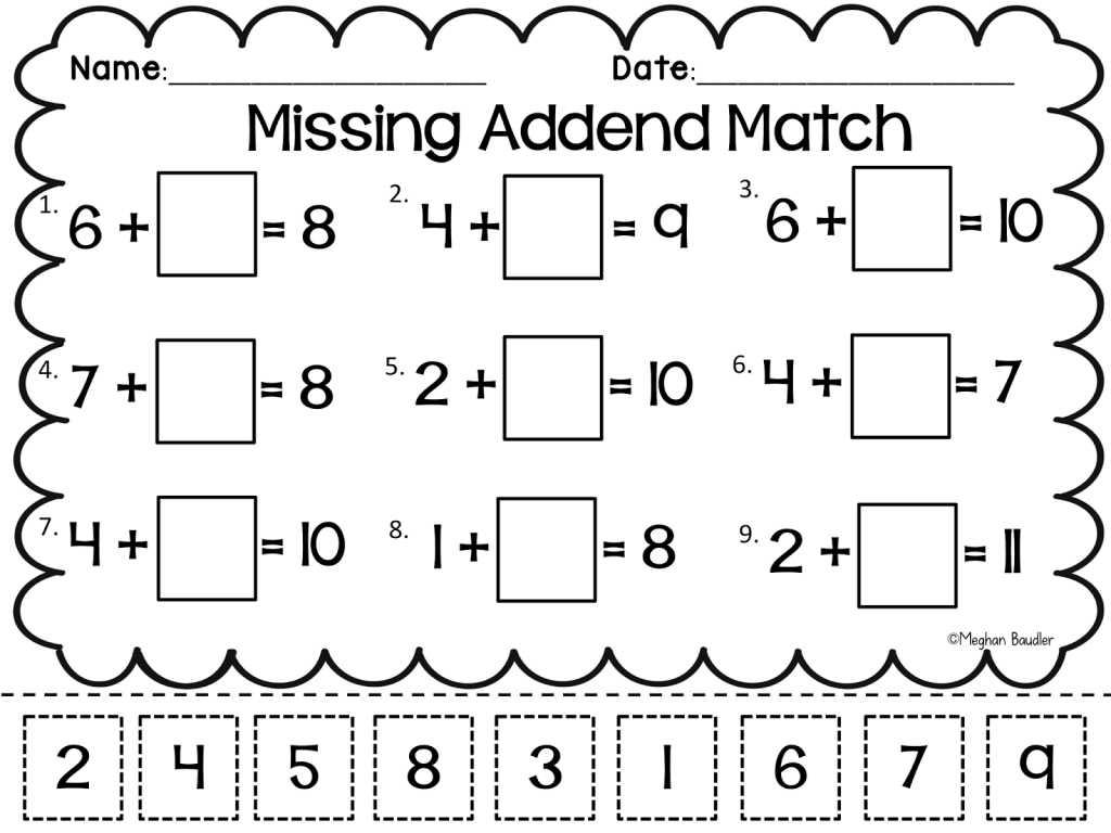 Grade 3 English Worksheets with Grade Worksheet Missing Addend Worksheets First Grade Gras