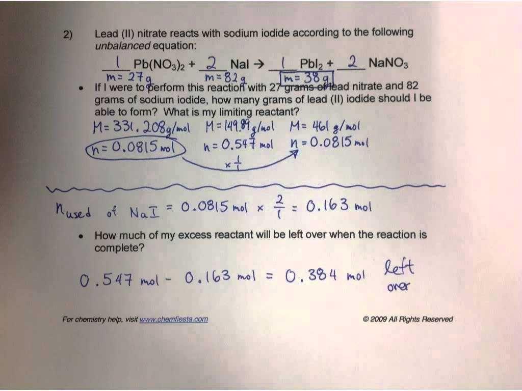 Gram Formula Mass Worksheet