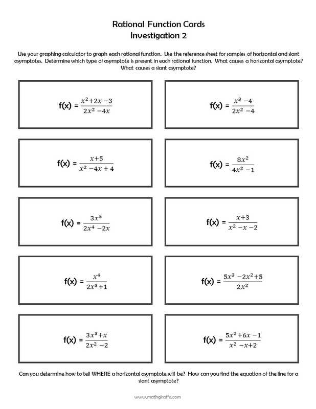 Graphing Rational Functions Worksheet 1 Horizontal asymptotes Answers together with Unique Graphing Rational Functions Worksheet New Graphs Rational