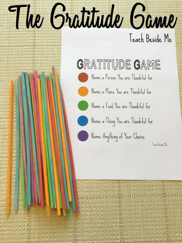 Gratitude Activities Worksheets Also Play the Gratitude Game This Thanksgiving