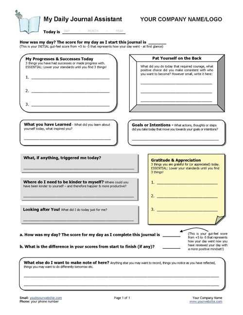 Gratitude Activities Worksheets and Daily Gratitude Diary Template