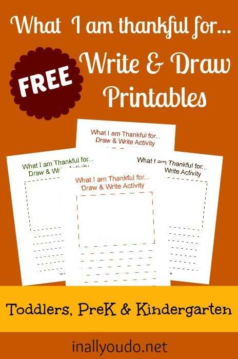 Gratitude Activities Worksheets or Free Gratitude Write & Draw Printables