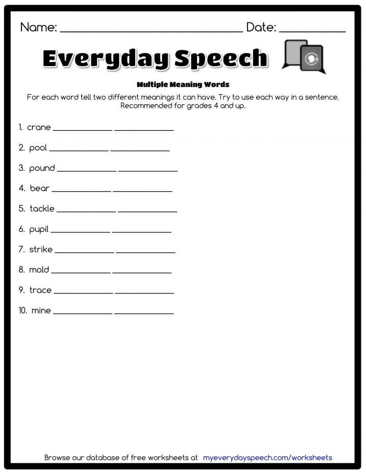 Greek and Latin Roots Worksheet Pdf with Multiple Meaning Words Worksheet 3rd Grade Worksheets Free All Greek