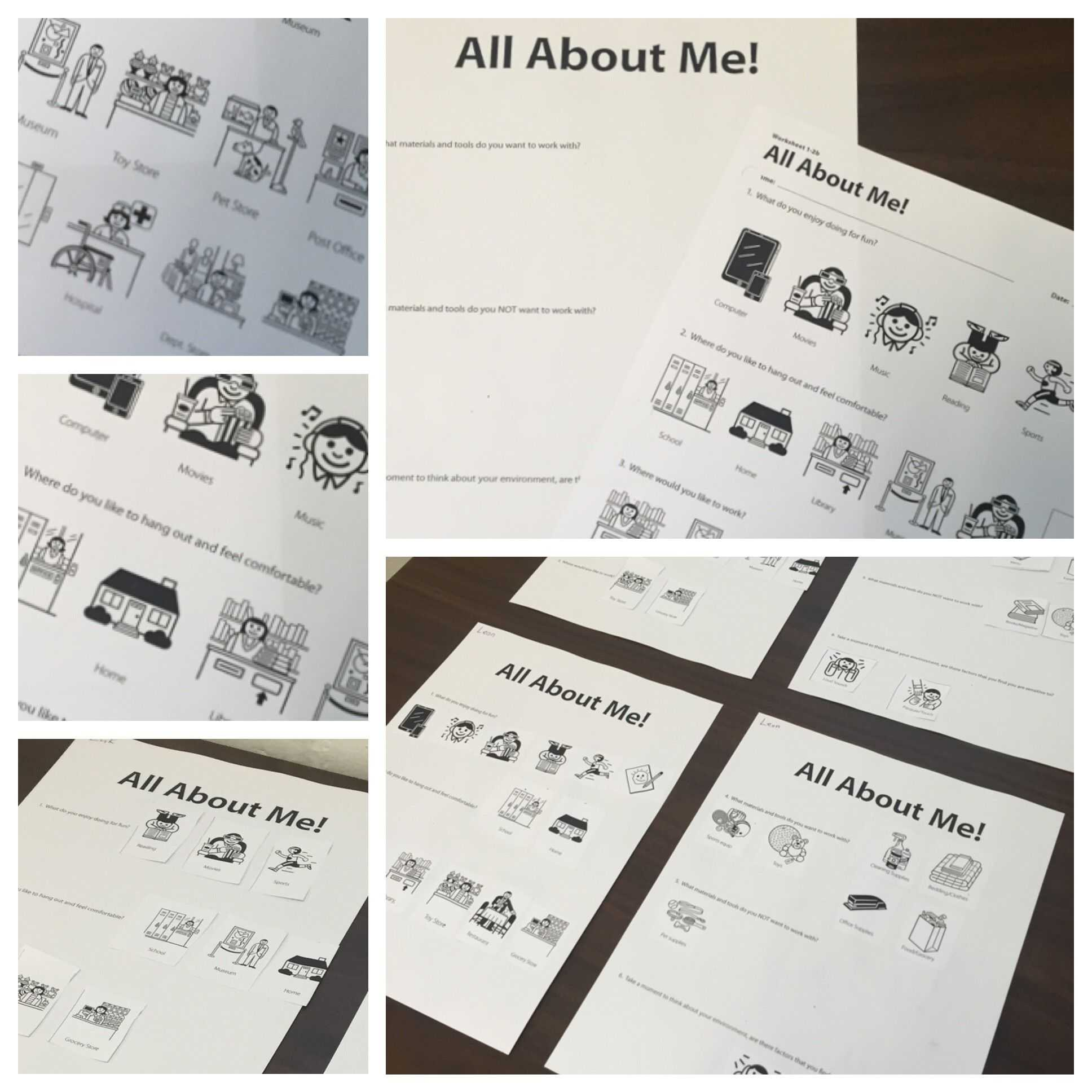 Grief and Loss Worksheets for Adults Also Utilizing the All About Me Worksheet From the I Can Work therapro