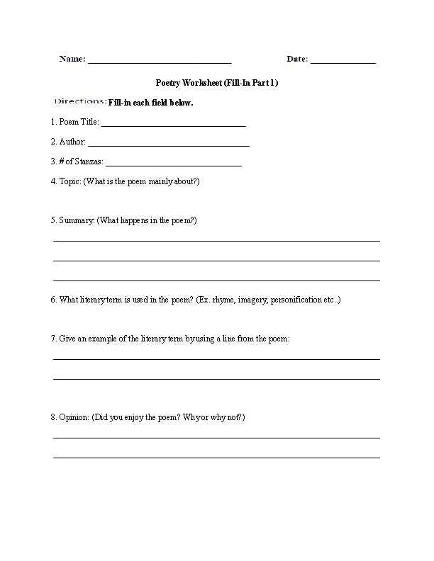 High School Health Worksheets Pdf or Poetry Worksheets Pdf aslitherair