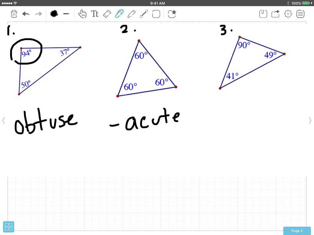 Interior Angles Of A Triangle Worksheet Pdf and Classify Triangles by Angle Measures