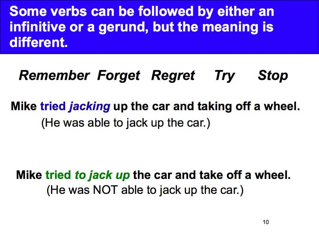Ir A Infinitive Worksheet Answers Also Week 3 Gerunds and Infinitives David Parkerampaposs English Cla