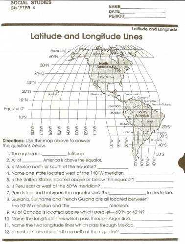 Latitude and Longitude Worksheets 7th Grade as Well as Latitude and Longitude Worksheets