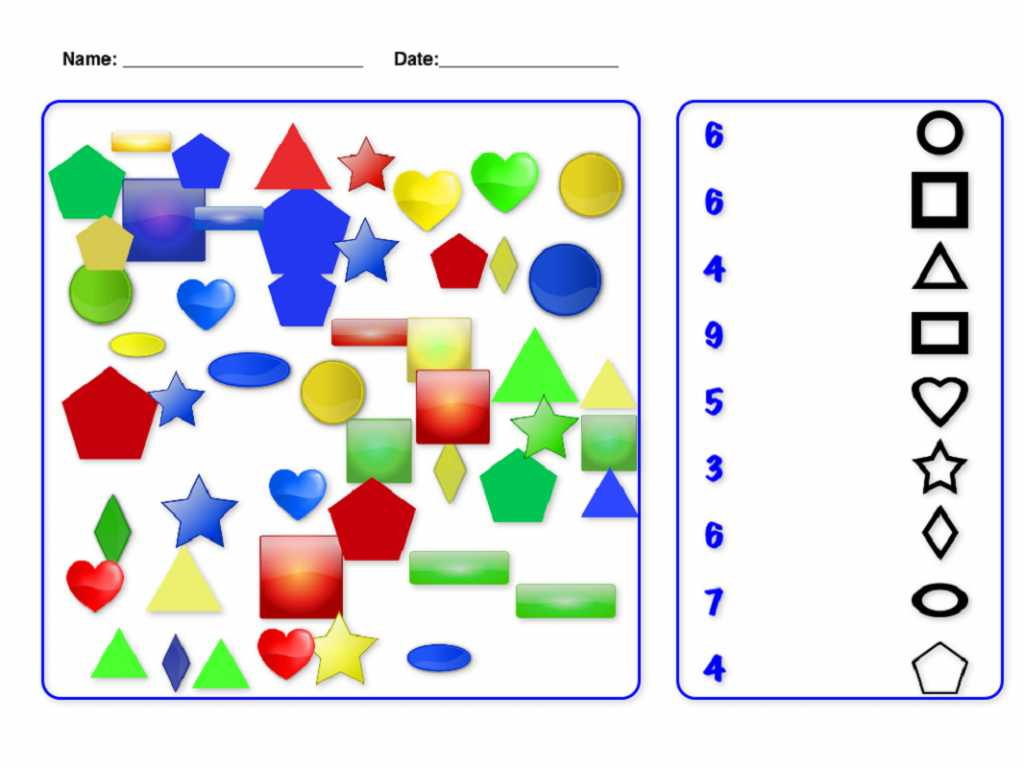 Learning Colors Worksheets and Free Number and Shapes Printable Shelter
