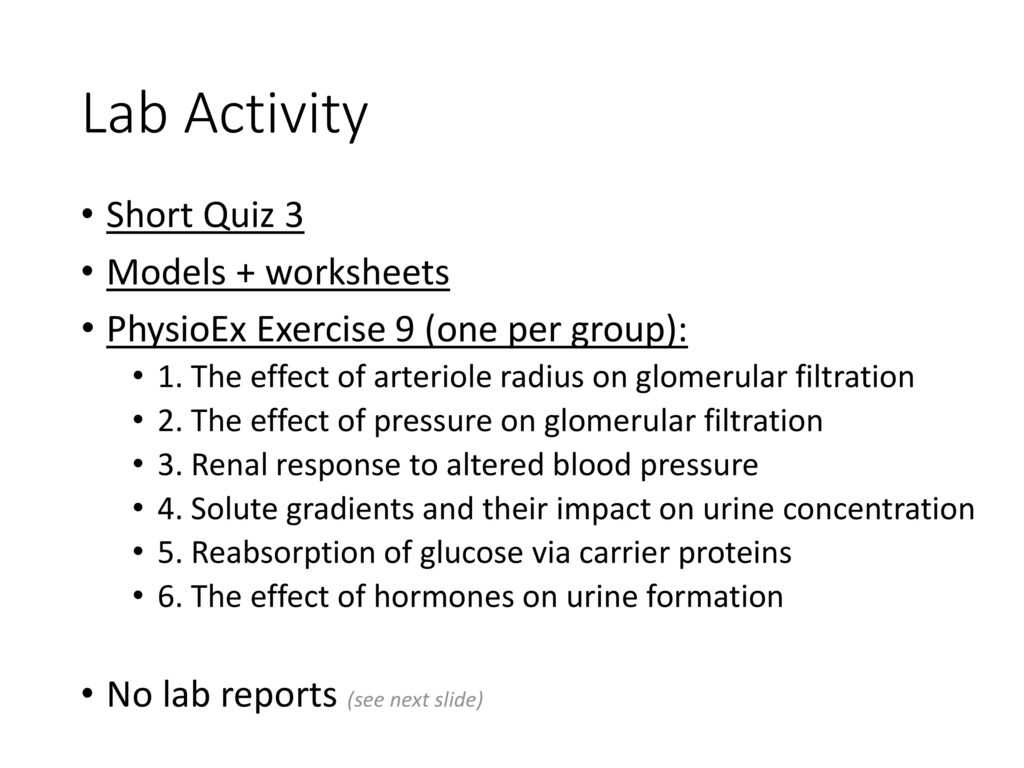 Mental Health Worksheets Pdf with Renal Physiology Laboratory Exercise Kaap Ppt Video Online D