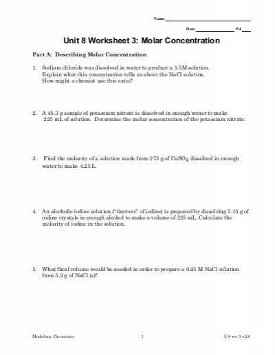 Mole Calculation Worksheet Also Concentration Calculations Worksheet Kidz Activities