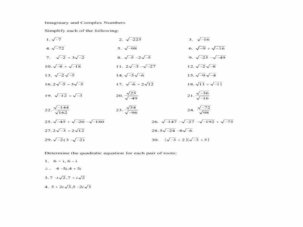 Mole Mass Problems Worksheet Answers and Plex Numbers Worksheet Super Teacher Worksheets