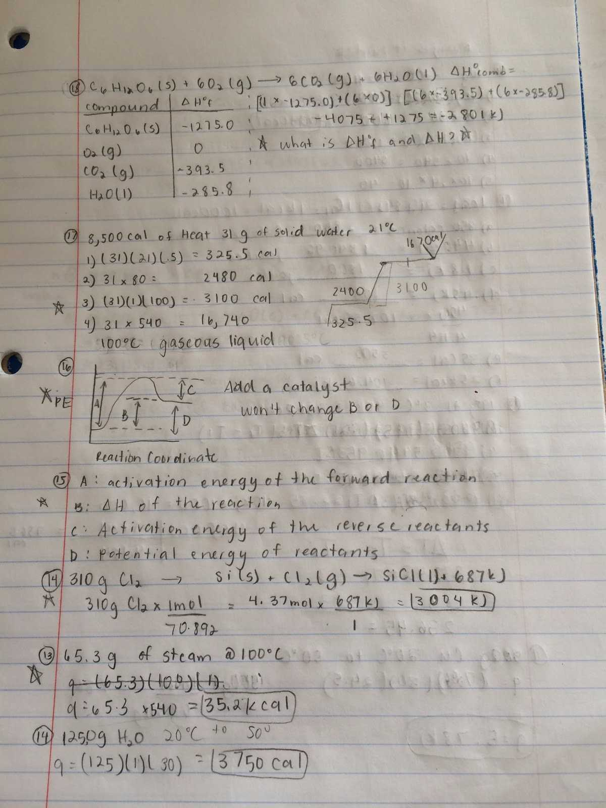 Neutralization Reactions Worksheet and thermochemistry